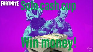 Fortnite solo cash cup! Grinding for #1! Code: Benbomb12 !