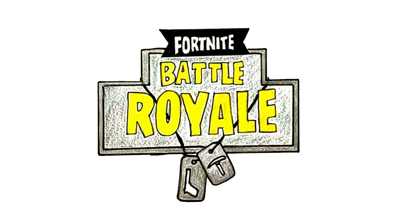 How To Draw The Fortnite Battle Royale Logo Youtube