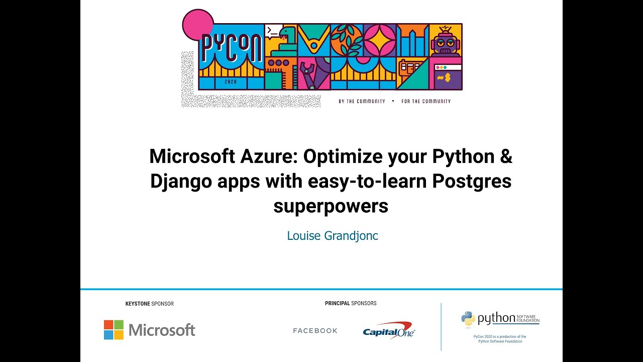Image from Optimize Python & Django apps with Postgres superpowers
