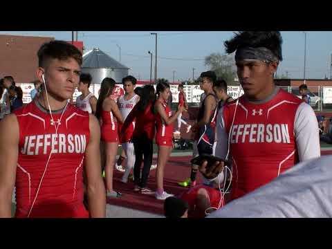 1st Track Meet At Jefferson High School's New Stadium.  El Paso, Texas