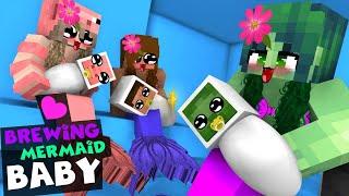 Заваривать русалка ребенок - Minecraft анимация