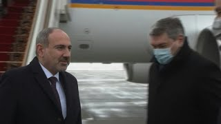 Armenian PM Pashinyan arrives in Moscow to meet with Putin on Nagorno-Karabakh | AFP