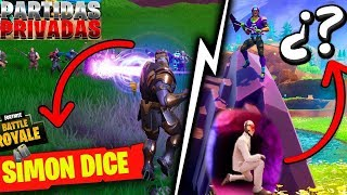 ⭕ ESCONDIDAS y SIMON DICE en directo Partidas privadas + FORTNITE BATTLE ROYAL