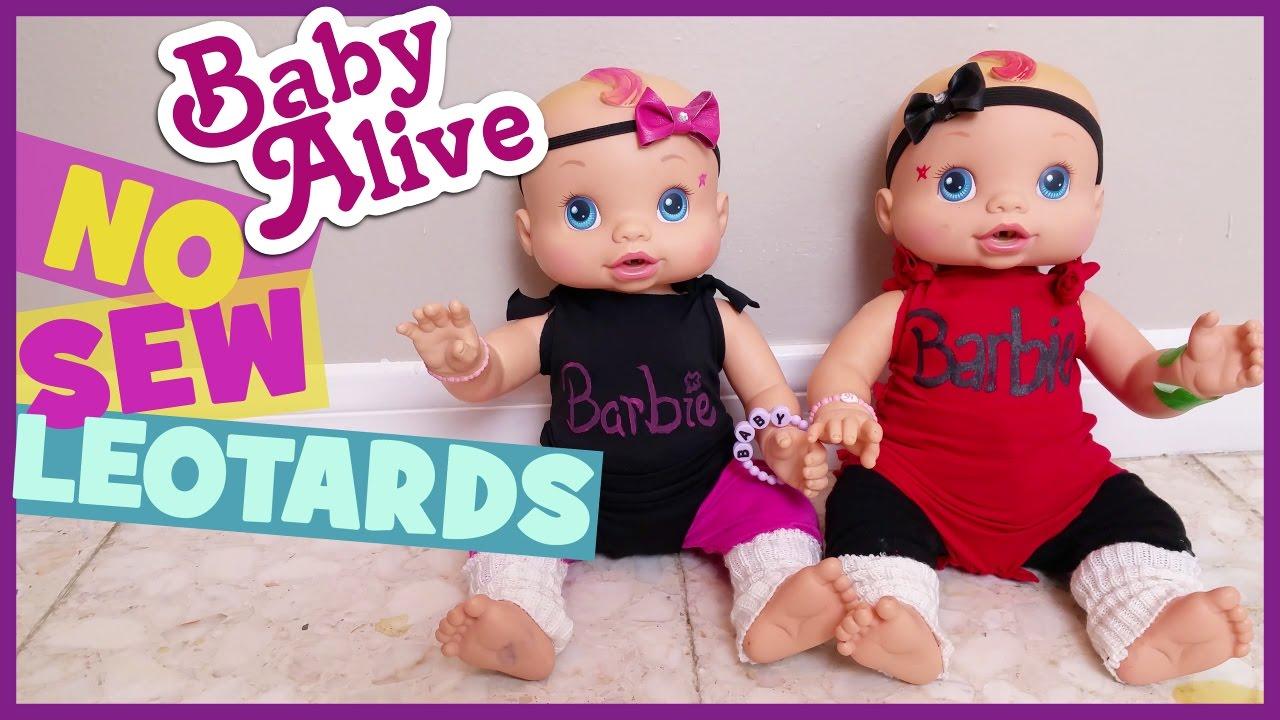 676b5b6cc34e BABY ALIVE NO SEW LEOTARDS!!