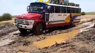 الشوارع في دارفور وادي اب زريقة بين نيالا و فاشر