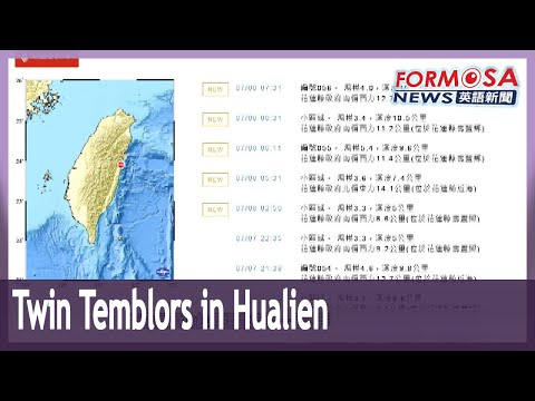 Hualien rattled by two magnitude 5.4 earthquakes in a day