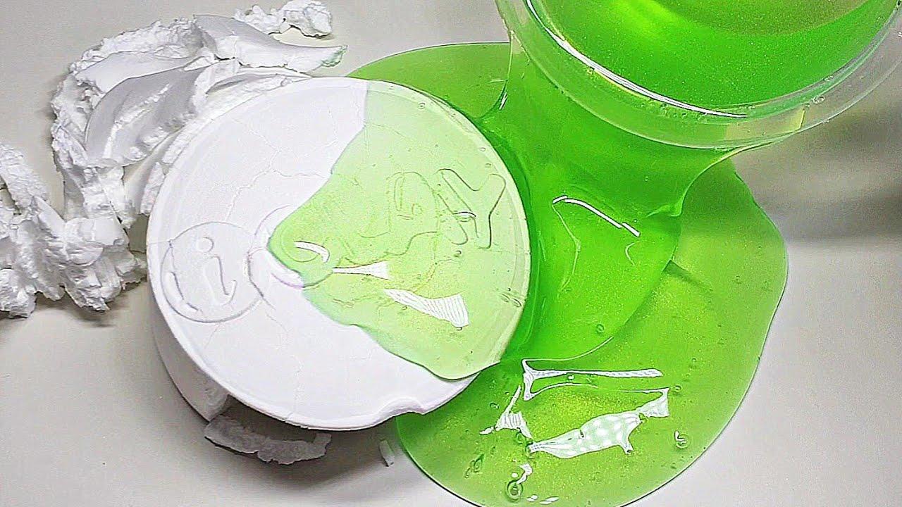 🧪 액괴에 '스노우 매직' 한 통! 섞기 / mix clay into slime / スライムに複合させる粘土 / 액체괴물 / 슬라임 / 점토 섞기 / 박뮤즈