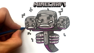 Dessin WITHER - Minecraft