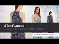 6 Top Featured Long Dresses Collection By Rebecca Taylor, Winter 2017