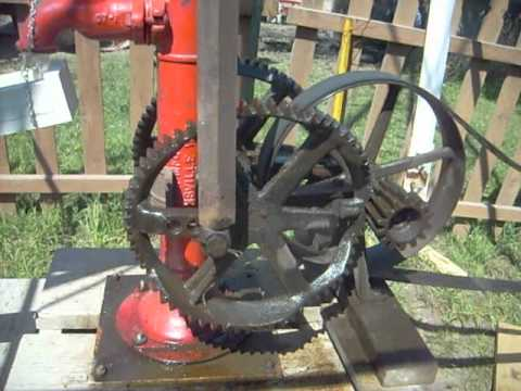 Wobble Gear variable speed Pump Jack at Sycamore Illinois.avi