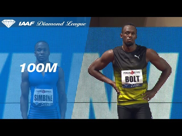 Usain Bolt 9.95 sweeps the field in the Men's 100m - IAAF Diamond League Monaco 2017