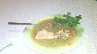 Суп с фасолевыми галушками // Bean soup with dumplings