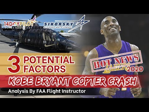 3 Potential Factors why the Sirkorsky Crash - Kobe Bryant (NOT NTSB REPORT)