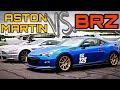Subaru BRZ Tries To Beat An Aston Martin