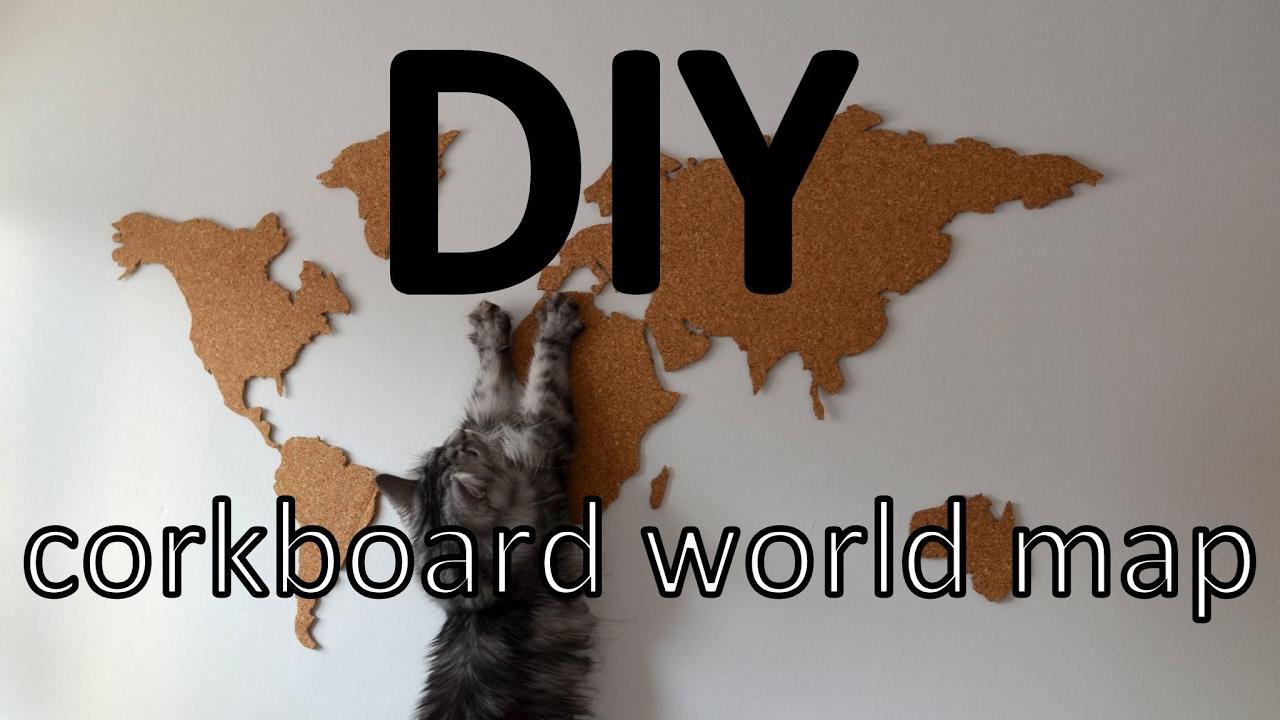 Diy korkov mapa corkboard world map youtube diy korkov mapa corkboard world map gumiabroncs Images