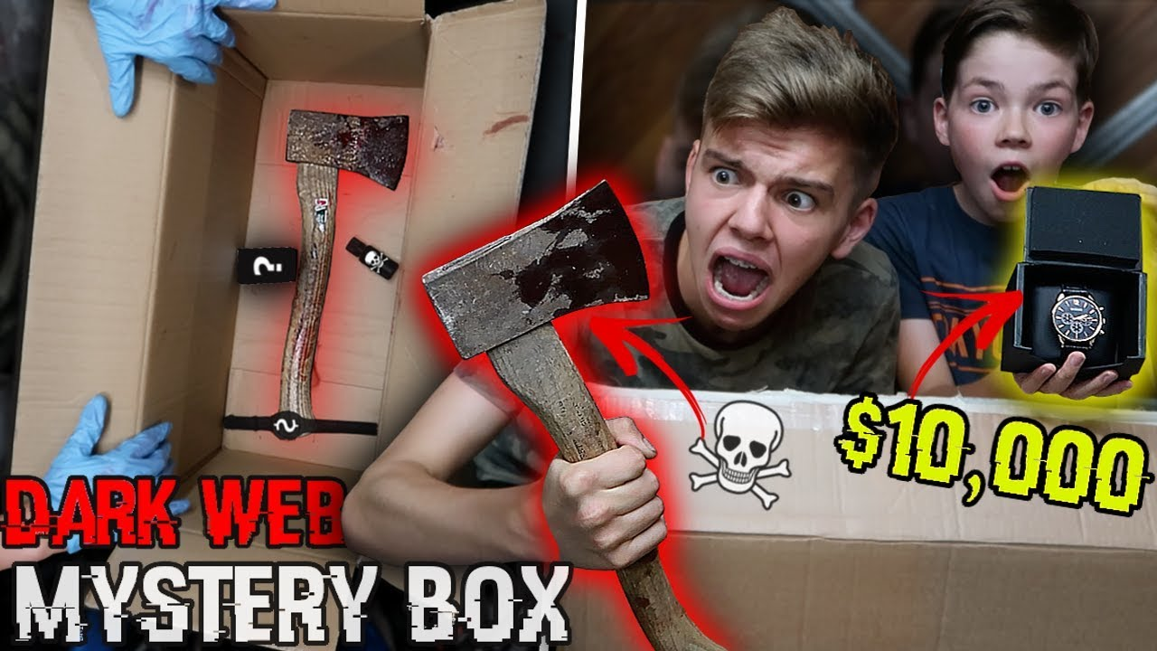 Buying a MYSTERY BOX off the DEEP DARK WEB PRANK on my 11 year old  brother!! (HE ALMOST CRIED)