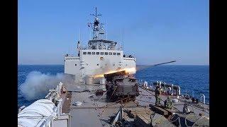 Uji Tembak MLRS RM70 Grad di Atas KRI Teluk Sampit 515
