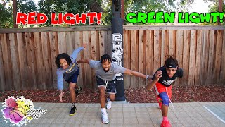 "The ""RED LIGHT, GREEN LIGHT"" Basketball Challenge!"
