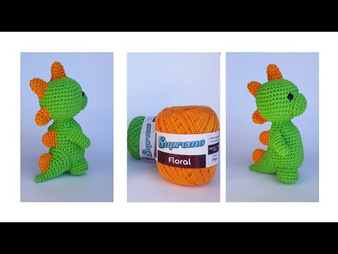 I want to crochet: Baby dino sleeping - Free recipe! / Sleeping ... | 360x480