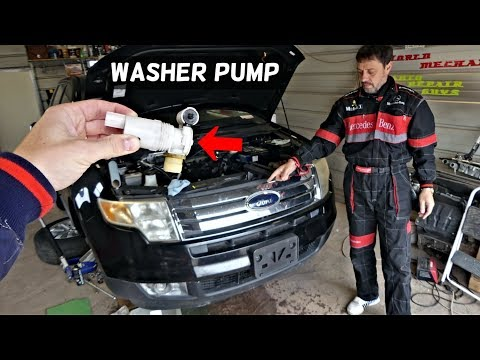 FORD EDGE WINDSHIELD WASHER PUMP REPLACEMENT REMOVAL. LINCOLN MKX