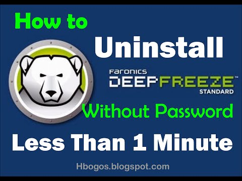 How to Uninstall Deep Freeze Without Password and Software ( less than 1 minute ) work 100%