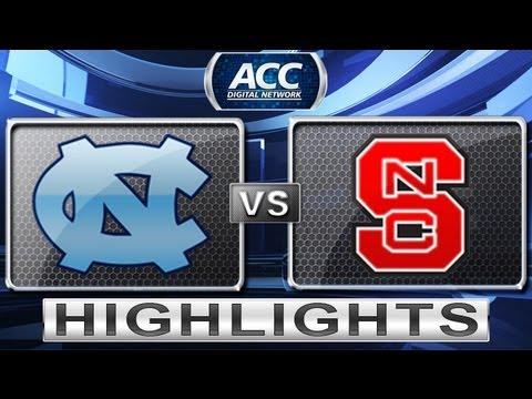 North Carolina vs NC State Basketball Highlights 1/26/13