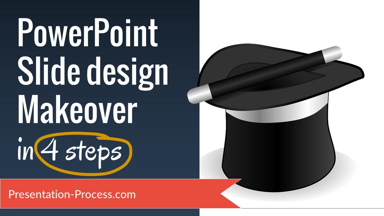 powerpoint slide design makeover 4 easy steps youtube