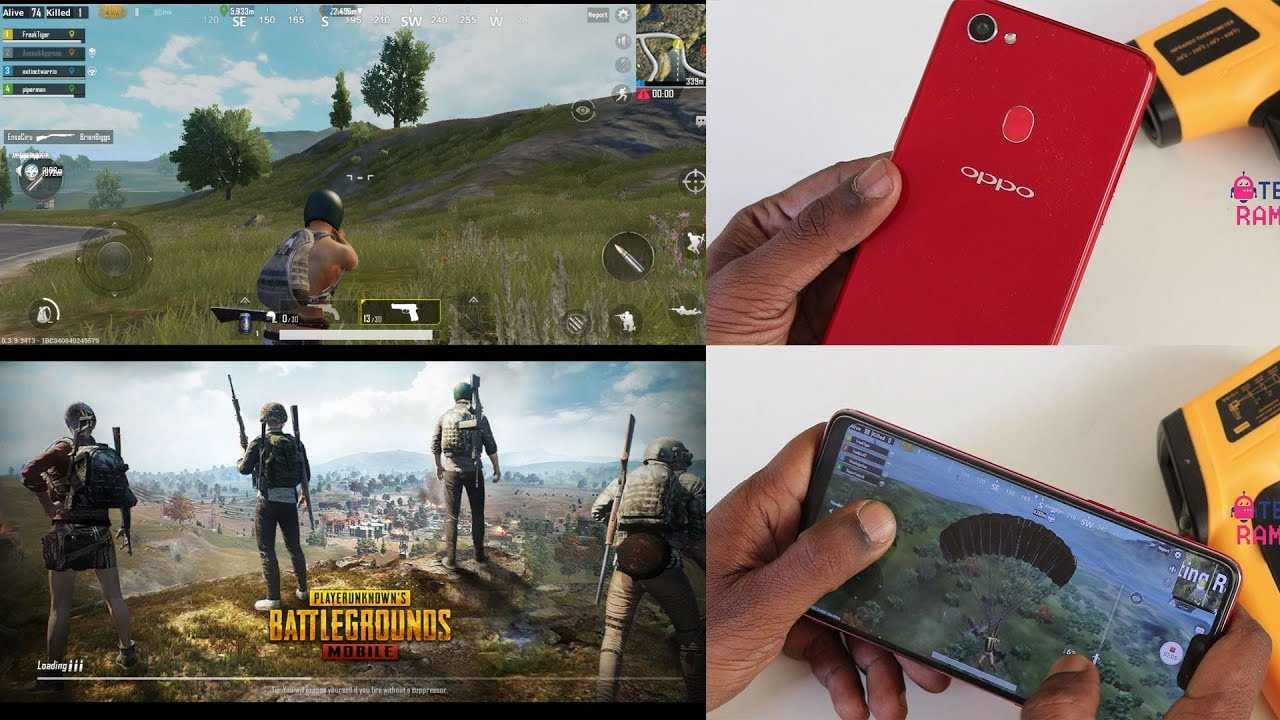 Oppo F7 PUBG Mobile Gaming Review with Heating test
