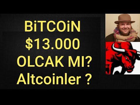 Bitcoin $13.000 DOLAR  Olcak Mı ? Bitcoin Ve Altcoin Genel  Ve Teknik Analiz #Bitcoin #Altcoin