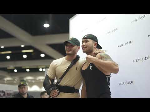 Jeremy Buendia At The La Fit Expo 2018 - HeraxHero And Evogen