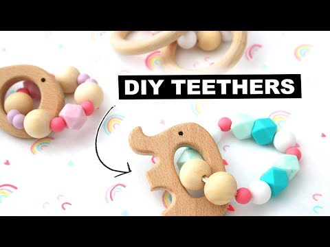 DIY Silicone Wooden Baby Teether | Jenelle Nicole