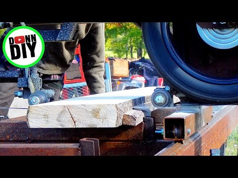 Felling & Milling Aspen - Band Sawmill Build #24