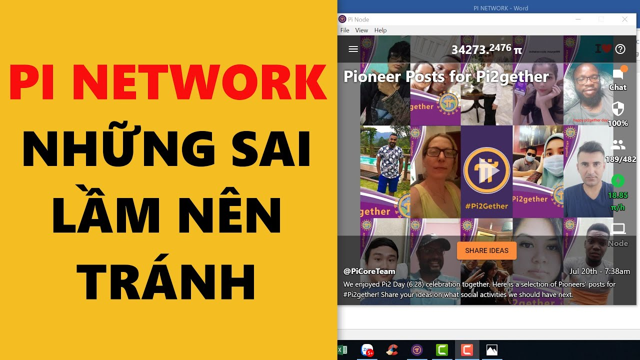 pi network các lỗi cần tránh- achi kiếm tiền online