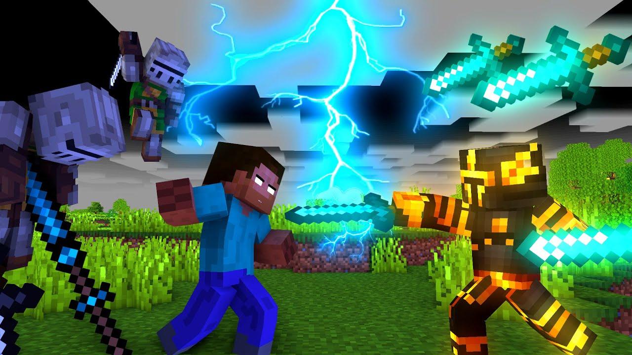 Minecraft Fight Animation - Herobrine fighting
