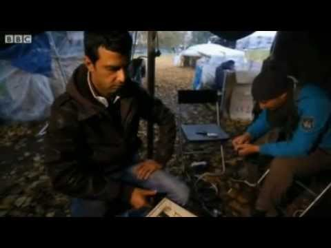 BBC News about the refugee camp in The Hague
