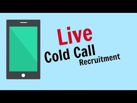Recruitment Consultant Cold Calling Live With A Client - Live Cold Call UK