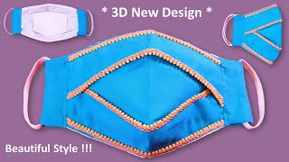 Beautiful 3D DIY Face Mask Sewing Tutorial with Filter New Design Make Face Mask Cloth No Pattern