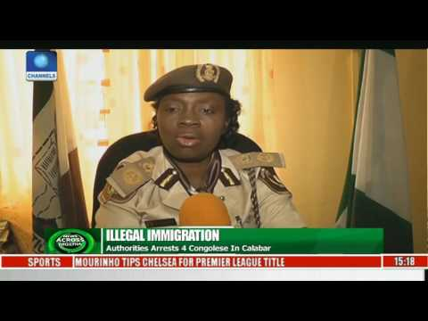 Illegal Immigration: Authority Arrests 4 Congolese In Calabar