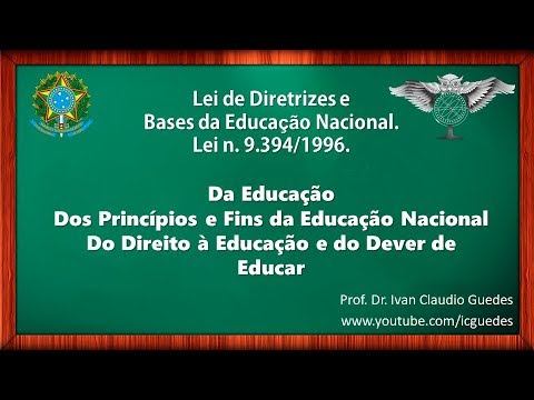 Lei De Diretrizes E Bases Da Educacao Nacional Ldb 9394 1996
