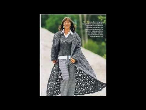 Модели женских вязаных пальто  Фото