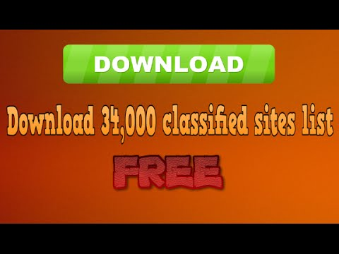 How to Download 34,000 classified sites list in FREE?