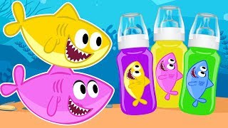 Baby Shark Family Time Song + More Nursery Rhymes Cartoons for Children by OneKid TV