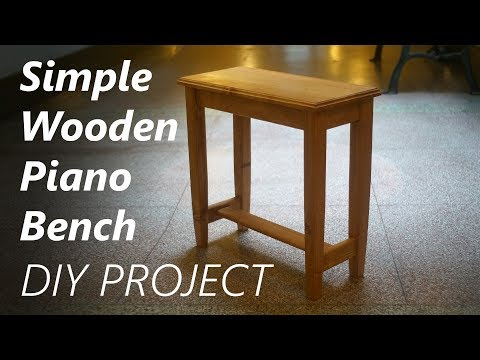 Building A Wooden Piano Bench Youtube