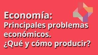 Principales problemas económicos I:¿Qué producir? ¿Cómo producir?