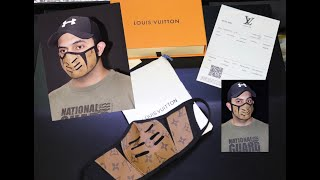 FACE MASK Louis Vuitton mask Fancy mask Masque l Маска для лица l Ahsoon Vlogs