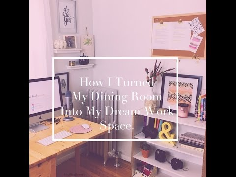 How I Turned My Dining Room Into My Dream Work Studio