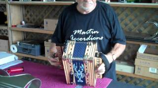 "Junior Martin demonstrates the ""melodeon"" in New Orleans. 04-23-10"