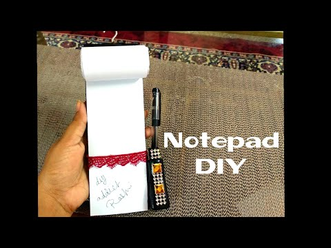 DIY Note-pad (how to  Make Note-pad) Back to school diy