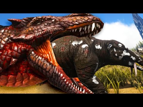 Ark Survival Evolved - FEAR the NEW FIRE SNAKE! SECRET REAPER TAMING METHOD! (75) - ARK: Annunaki