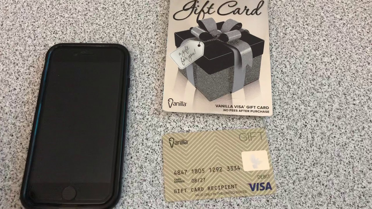 How to register your vanilla visa gift card